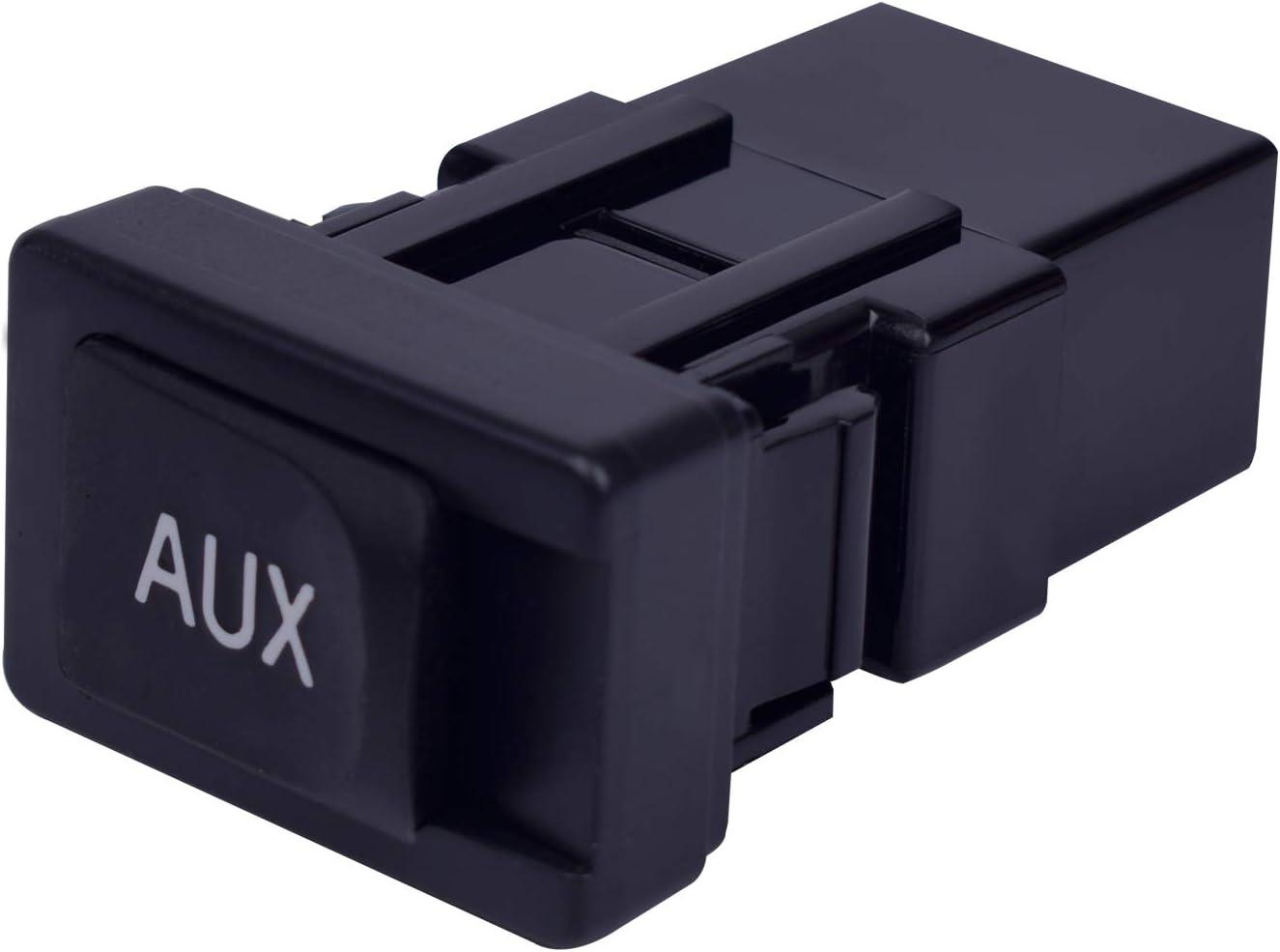 Reeoutdoor Auxiliary Input Jack Kit for 2005-2012 Toyota Prius, Yaris, FJ Cruiser, Lexus ES350 LS460 LS600h Aux Port Audio Video 86190-06010