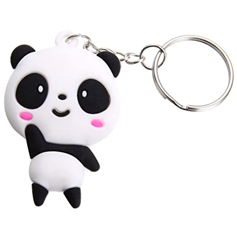 Cameleon-Shop Llavero Silicona Panda Cartoon Dibujos ...