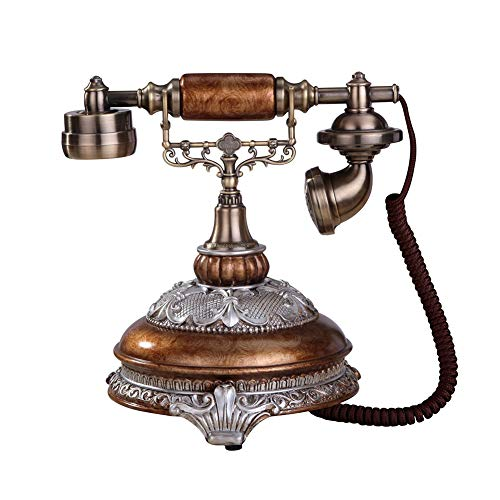 Corded Retro Phone Antique Phone Vintage Decorative Telephones Classic Desk FSK/DTMF Landline with Caller ID Display for Office Home Living Room Decor from Cacoffay