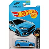Hot Wheels, 2016 Night Burnerz, Forza Motorsport '16 Ford Focus RS [Blue] #90/250 by Mattel