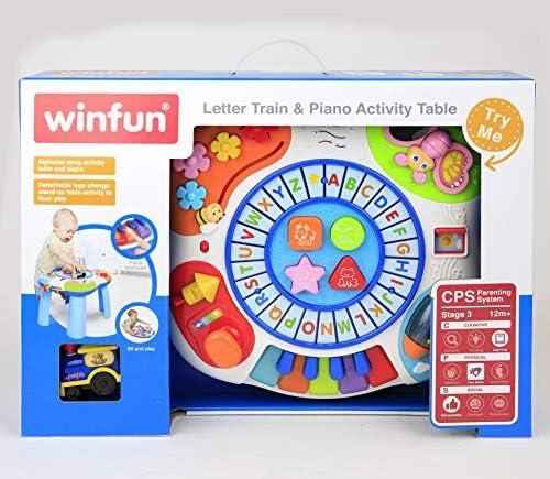 winfun 000801-NL Activity Table Buchstabenzug & Klavier
