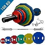 BodyRip PREMIUM PRO Barbell Sets (Olympic or Standard or Studio Bar) | Polygonal Weight Plates |...