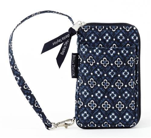 Bella Taylor Claremont Quilted Cotton Wristlet Wallet