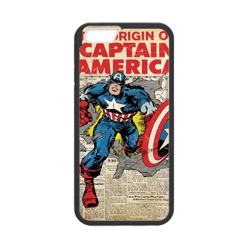 Fayruz- Personalized Protective Hard Textured Rubber Coated Cell Phone Case Cover Compatible with iPhone 6 & iPhone 6S - Captain America F-i5G687