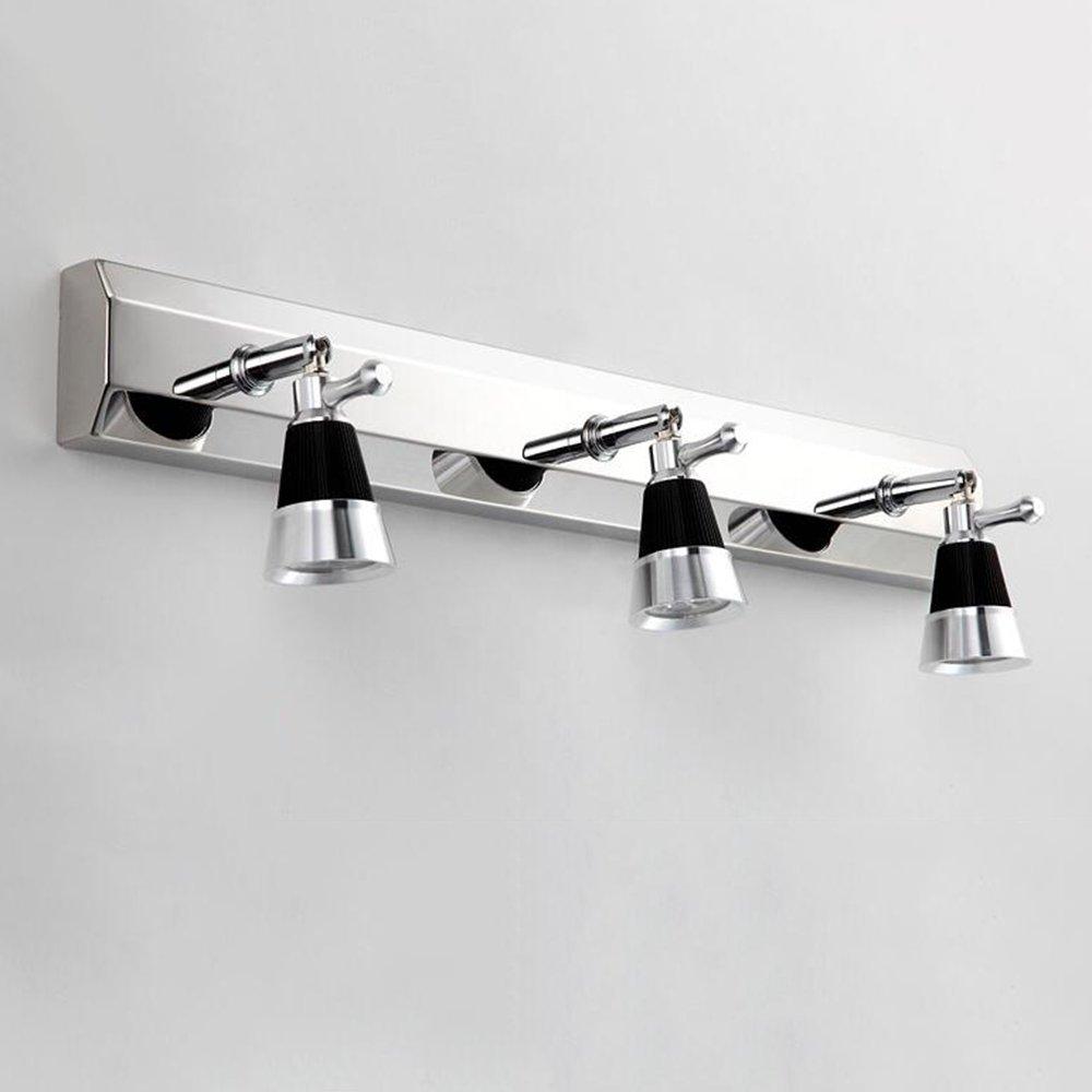 Apliques para baño- (La lámpara puede ser 360 grados de rotación) Cabeza doble del LED / tres faros principales del espejo La luz minimalista moderna del cuarto de baño del acero inoxidable / la luz del gabinete del espejo / la lámpara de pared --Luces del