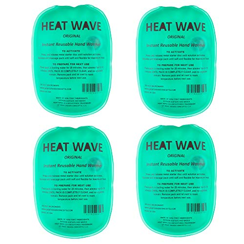 Instant Reusable Heat Pack, Hand Warmer 4-Pack, for Camping, Hiking, and Pain Relief (3