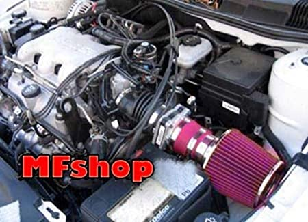 Red Filter /& Accessories Air Intake Filter System works with 1997 1998 1999 2000 2001 2002 2003 Chevy Malibu with 3.1L V6 Engine