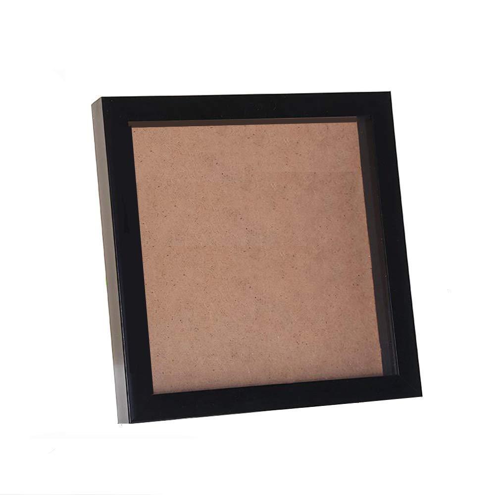 fairbridge Frames Shadow Box Frame with Display Board, 11 by 11-Inch,  White, Frames Shadow Box Frame - Great for All Types of Keepsakes (Black)