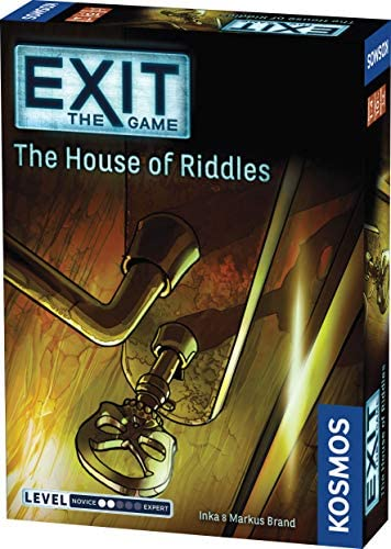 Exit: The House of Riddles | Exit: The Game - A Kosmos Game from Thames & Kosmos | Family-Friendly Card-Based at-Home Escape Room Experience for 1 to 4 Players Ages 10+