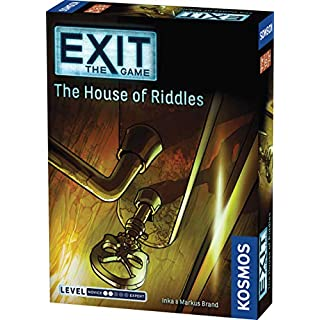 Exit: The House of Riddles | Exit: The Game - A Kosmos Game from Thames & Kosmos | Family-Friendly, Card-Based at-Home Escape Room Experience for 1 to 4 Players, Ages 10+