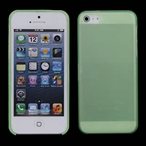Vktech Ultrathin Transparent Cover Case for iPhone 5C TPU Phone Sets Scrub Shell (Green)