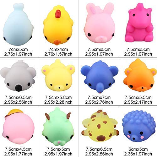 Satkago 3rd Generation Squishys Toys, 12pcs Big Upgrade Size Mochi Kawaii Squeeze Cartoon Animal Toys for Kids Adults Stress Relieve Pressure Release Anxiety Toy by Satkago (Image #7)