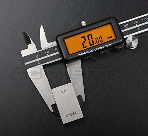 AccusizeTools - 12'' Full Screen Yellow LCD Electronic Digital Caliper, Metric/Inch/Fractional, Professional Quality, 1/128'', 1110-1838 by Accusize Industrial Tools (Image #5)