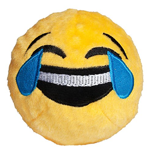 Product image of fabdog Crying with Laughter Emoji faball Squeaky Dog Toy (Small)