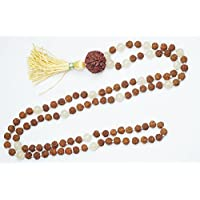 Healing Stone Manifestation 108 Bead Rudraksha Beads Citrine Wrap Necklace Gift Her