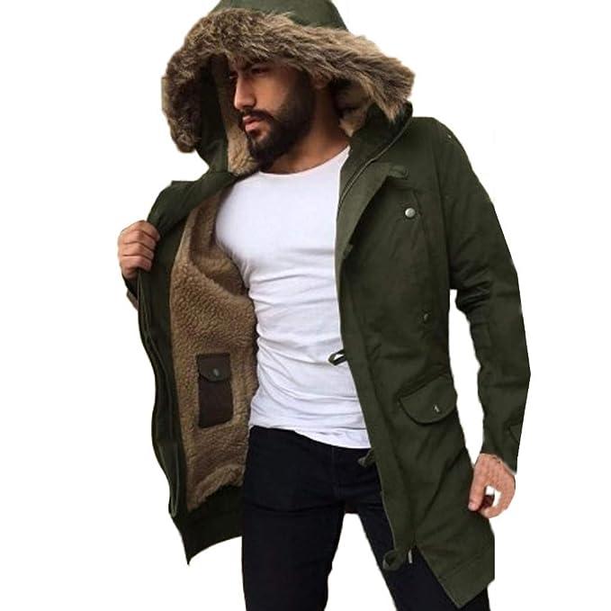 Abrigo Hombre Invierno, Modaworld Chaqueta Casual Abrigo De ...