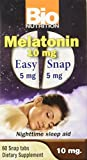 Product review for Bio Nutrition Melatonin 10 Mg Tablets, 60 Count