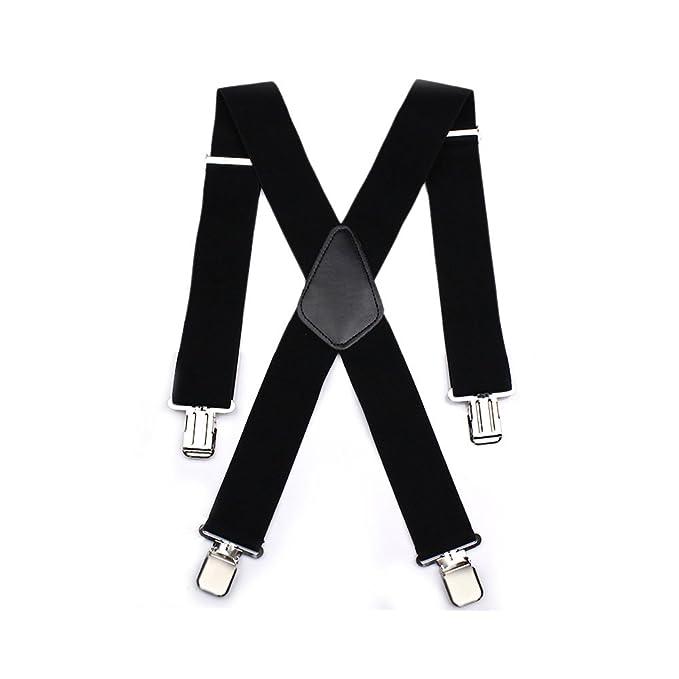 6138d20e9a07b Aulola®, bretelle da uomo, forma a X, elastiche e regolabili, con