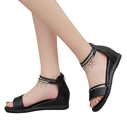 bec357a2a660d Amazon.com: Women's Sandals Bummyo Ladies Sandals Flat Sandals ...