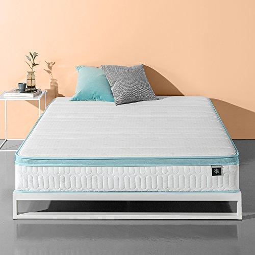 Zinus 10 Inch Mint Green Memory Foam Hybrid Spring Mattress, Twin