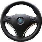 bmw 325 wheel cover - Black Genuine Leather Steering Wheel Cover for BMW 128 I 135 I / BMW 325 I 328 I 328 XI 328 I XDrive / BMW 330 XI / BMW 335 I 335 XI 335 D 335 I XDrive