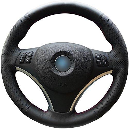 Bmw 325 (Black Genuine Leather Steering Wheel Cover for BMW 128 I 135 I / BMW 325 I 328 I 328 XI 328 I XDrive / BMW 330 XI / BMW 335 I 335 XI 335 D 335 I XDrive)