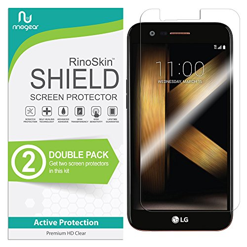 LG K20 Plus & K20 V Screen Protector [2-Pack] (Edge-to-Edge) RinoGear Flexible Screen Protector for LG K20 Plus & K20 V HD Crystal Clear Anti-Bubble Unlimited Replacement Film