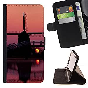 Momo Phone Case / Flip Funda de Cuero Case Cover - Sunset Beautiful Nature 96 - LG G4 Stylus H540