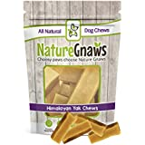 Nature Gnaws Himalayan Yak Chews Small 2-3 inch (8 Count) - 100% Natural Dog Chews for Small Dogs & Light Chewers
