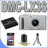 Panasonic DMC-LX3S 10.1MP Digital Camera (Silver) BigVALUEInc Accessory Saver Battery Bundle