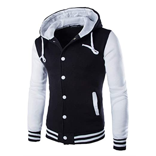 Amazon Com Formulaone Zacard Men Fashion Hooded Baseball Jacket