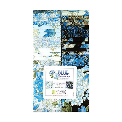 (Benartex Kanvas Blue Symphony 2.5in Strip-pies 40 Pcs.)