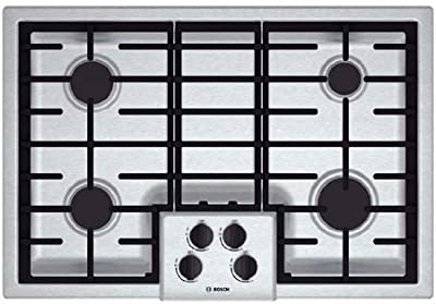 """Bosch NGM5055UC 500 30"""" Stainless Steel Gas Sealed Burner Cooktop ..."""