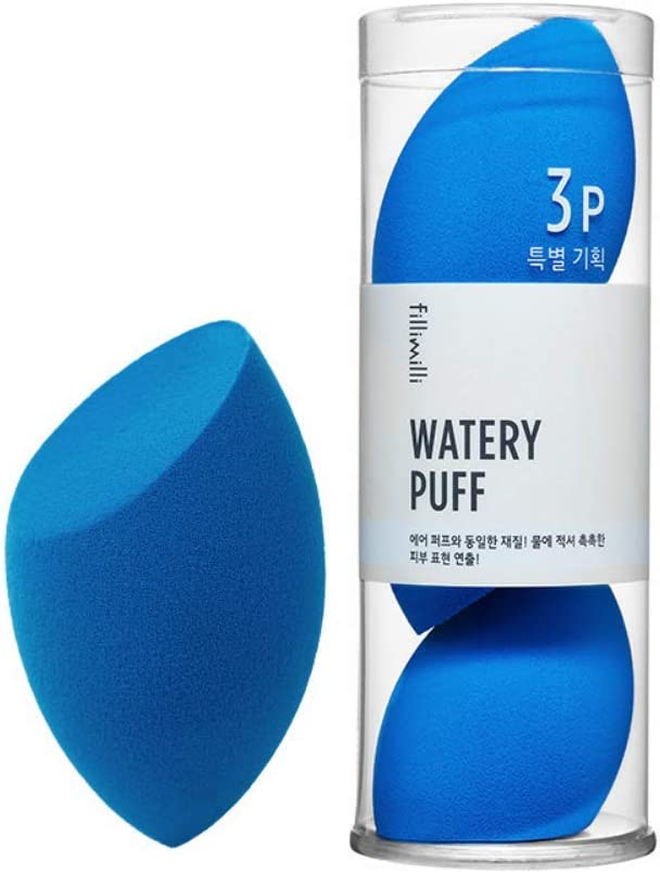 [3P SET] fillimilli Make-up Sponge Watery Puff 3P SET しっとりパフ (チョクチョクパフ) 3個セット (Olive Young) [並行輸入品]