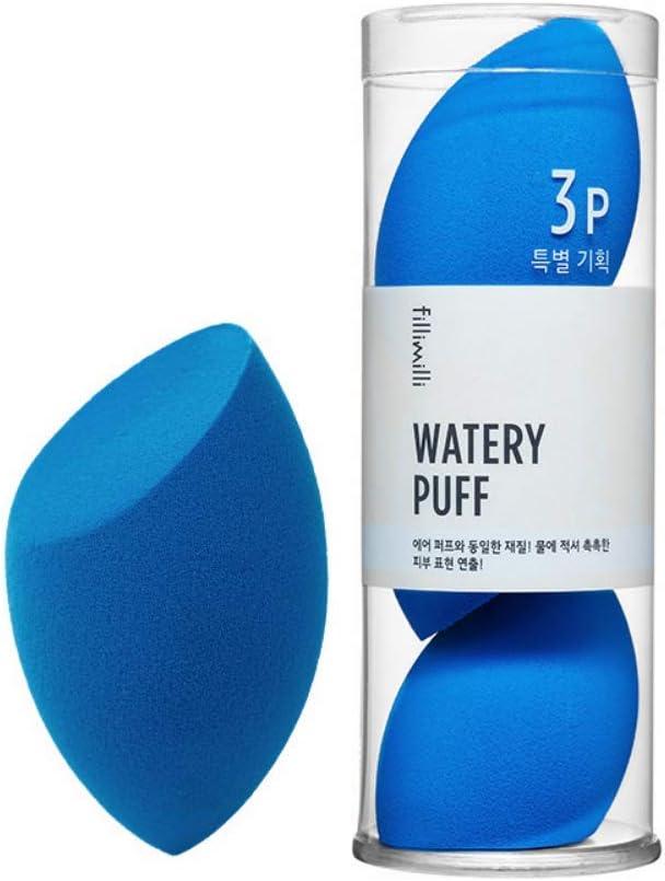 [3P SET] fillimilli Make-up Sponge Watery Puff 3P SET しっとりパフ (チョクチョクパフ) 3個セット (Olive Young) [並行輸入品]
