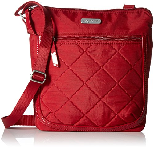 Baggallini Pocket Medium Crossbody Bag - Lightweight Crossbody Travel Bag, Slim Profile Crossbody Bag with Zippered Exterior Pockets and Removable RFID Wristlet