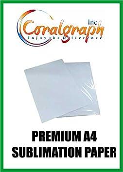 PREMIUM A4 Papel de sublimación 128 GSM: Amazon.es: Oficina y papelería