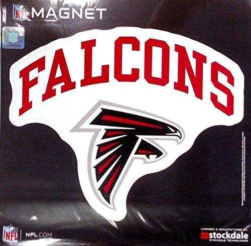 Atlanta Falcons ARCH Style Logo 12'' Magnet Heavy Duty Auto Home NFL Football by Stockdale