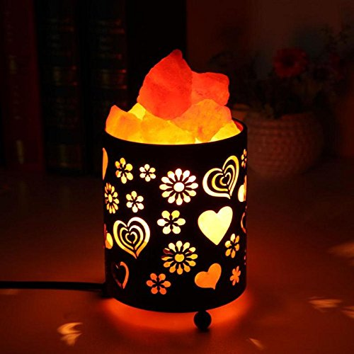 Shanglite New US Plug Air Purifier Himalaya Crystal Salt Lamp LED Night Light for Bedroom Office Hotel Rechargeable Bedside Creative Lamp (B)