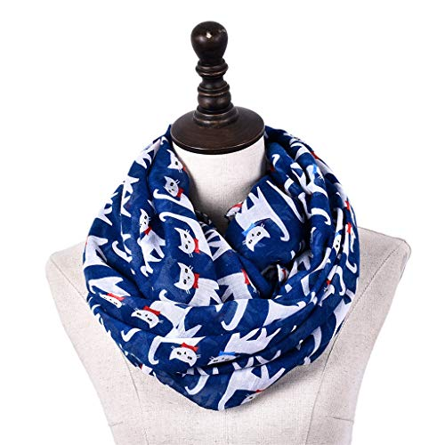 (Pandaie Womens Scarves, Ladies Solid Color Print Cat Lightweight Airy Soft-touch Everyday Scarf)