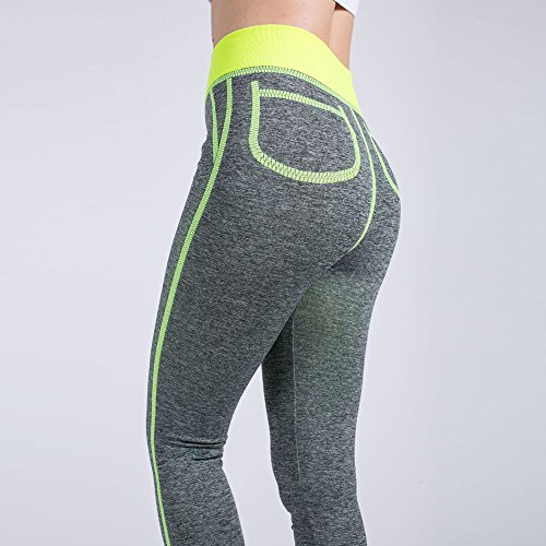 Gym Di Leggins Pantalone Pantaloni Push Leggings Da Donne Yoga Pocket Tuta Athletic False Sportivi Morwind Mesh Sexy Pants Up Yellow Fitness 8aqtAFxw