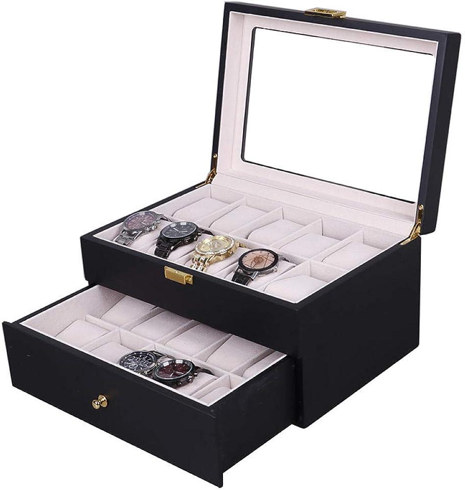 WATCHHE Organizador Caja De Almacenamiento De Relojes Relojero 6 ...