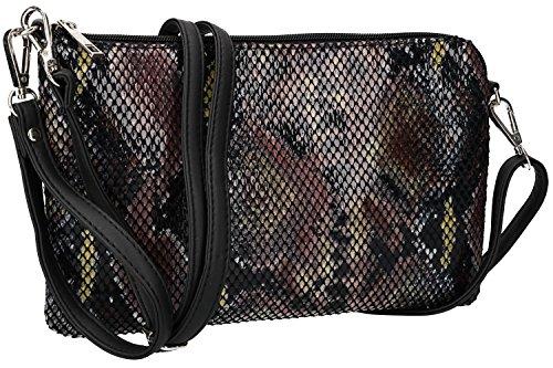 Coveri VN2424 bandoulière femme Collection glissière fermeture pochette à à Sac noir tvv4x