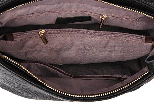 épaule Retro Sac Mère PU WineRed Estampées à Femmes Bandoulière Mode Cuir Unique Pack q0XxpR