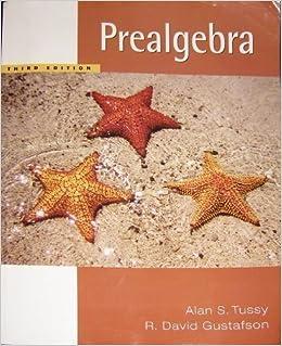 Book Prealgebra Third Algebra (Special Custom Edition for Math 0304)