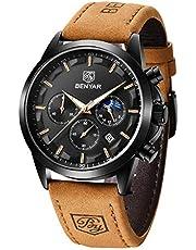 BENYAR Mode Herren Quarz Chronograph Wasserdicht Edelstahl Uhren Business Casual Sport Design Armbanduhr für Herren