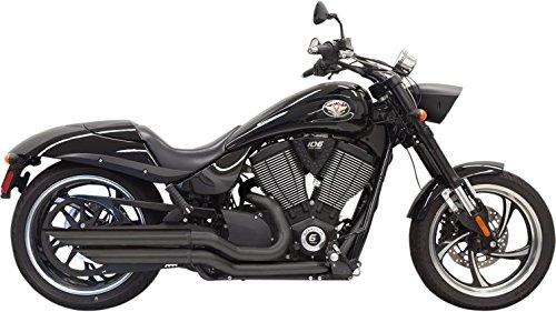 6H23BB Bassani Pro-Street Slash Cut Black Exhaust System for 2005-2014 Victory Hammer, Jackpot and Vegas Jackpot Motorcycles