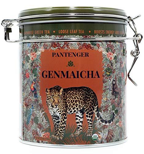 Genmaicha Green Tea - Genmaicha Green Tea With Roasted Brown Rice. Finest Japanese Genmaicha Loose Leaf Tea 3.5 Oz. USDA Organic. High Levels of Antioxidants and Amino Acids