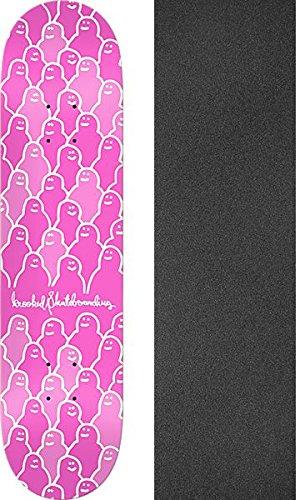 Krooked スケートボード Krouded ピンク スケートボードデッキ - 7.75インチ x 31.6インチ モブグリップ穴あきグリップテープ付き - 2個セット   B07CVWMYMS, ヒタチオオタシ 81aa041b