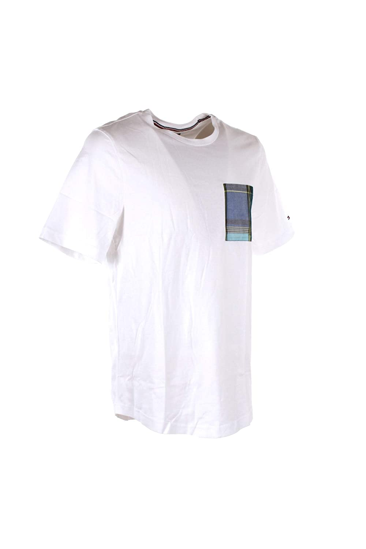 Tommy Hilfiger T-Shirt Uomo S Bianco Mw0mw09844 Primavera Estate 2019